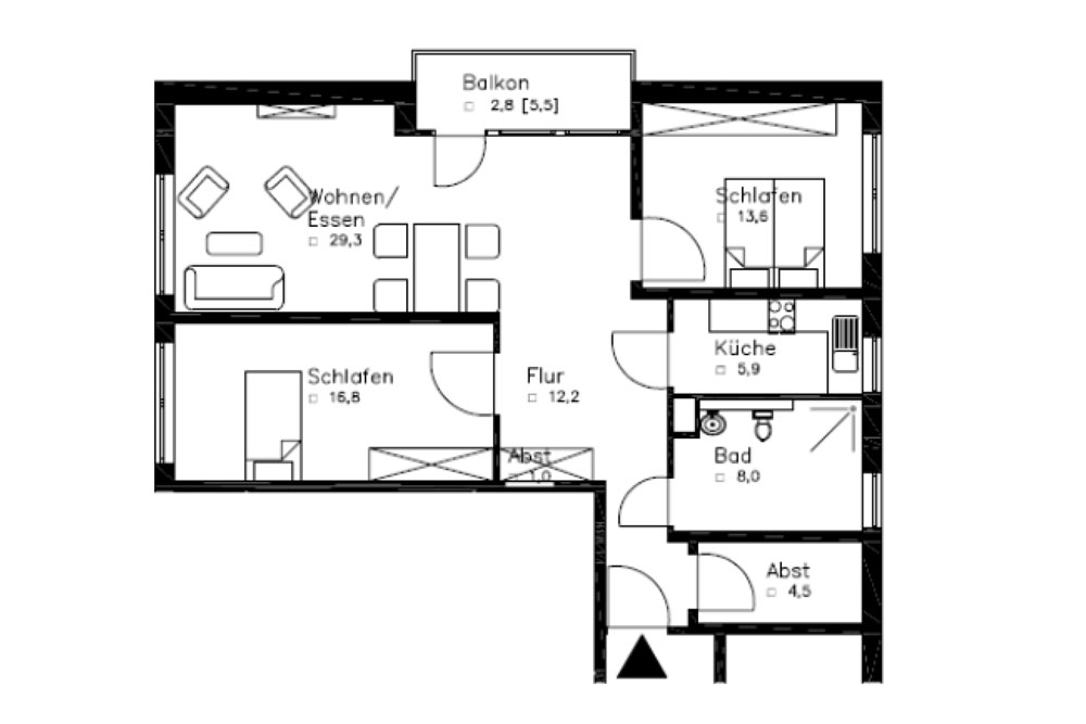 r weland 6b 3 zimmer wohnungen ca 94 1 qm jensen verm gensverwaltungsgesellschaft mbh. Black Bedroom Furniture Sets. Home Design Ideas