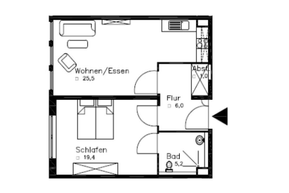 2 Zimmer Wohnungen